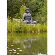 Tuinposter: Boeddha met spiegeling
